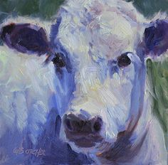 Day 10  of Leslie Saeta's 30 in 30 Challenge, by Ginny Butcher Oil ~ 6 x 6