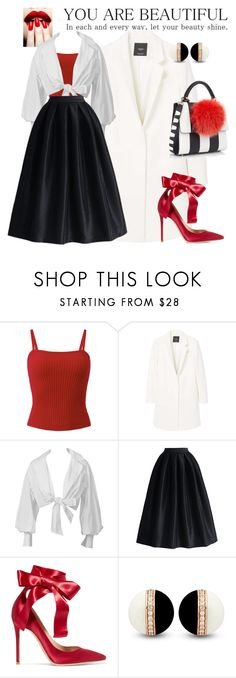 """YOU ARE BEAUTIFUL!!!"" by elen25 ❤ liked on Polyvore featuring MANGO, Montana, La Diva, Gianvito Rossi and Les Petits Joueurs"