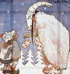 Julbocken (The Yule Goat) cover (detail) by John Bauer, 1910. A Christmas magazine for big and small children