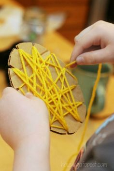 Yarn Wrapped Bees ~ Simple Bug Crafts for Kids