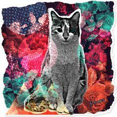 Adesivo Cosmic Kitty de @jurumple | Colab55