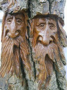 Wood Sculpture | Past wood spirit carvings and indian spirit carvings