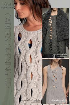 Knit open cable stitch via DiaryofaCreativeFanatic