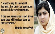 Malala Yousafzai. Amazing inspiration to all women fighting for freedom and equality