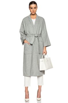 Side Slit Wool Coat