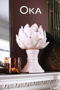 Our Cardoon Candle Holder certainly makes a design statement worthy of the top shelf. Place on a console table or mantelpiece for an intriguing decorative feature. Shop new arrivals at #OKA.com #NoHouseRules