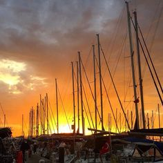 Beautiful Sunset, Sailing Ships, Sunsets, New York Skyline, Weird, Boat, Travel, Dinghy, Viajes