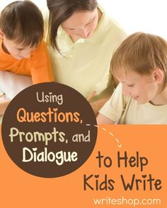 Asking questions to prompt writing helps kids come up with ideas, choose stronger words, and develop the ability to learn, think, and explain.