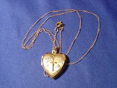 Retro Vintage 14 k Gold Fill Heart Locket w/ ANSON 12k G.F. Necklace    eBay