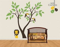 Baby Nursery Wall Decals  Tree Wall Decal  Lion by WallConsilia, $87.00