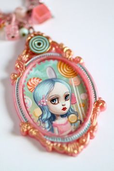Image of Lolita Lollipop - original Candyland cameo by Mab Graves