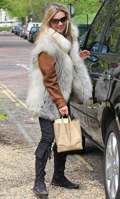 Kate Moss Out In London, 2012