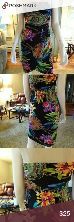 🌞SALE! Jennifer Lopez Strapless Faux Wrap Dress🌞 **NO OFFERS**PRICE FIRM**NO TRADES** Brand: JENNIFER LOPEZ Size: XS/P Dress Length: Above Knee, Mini Size Type: Regular Season: Spring, Summer Style: FAUX WRAP Sleeve Style: Strapless Zips Up In Back With An Eyelet For Extra Closure SEXY! Color: Multi-Color Material: POLYESTER, SPANDEX This Dress Was Only Worn A Couple Times. It Really Flatters Your Figure! I Can't Fit Into It Anymore.  Wear With Heels Or Flats. EUC, No Flaws Or Defects, New…