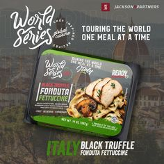 World Series RTE Meals; Globally Inspired. Grab your passport, pack your bags, & travel the world with Jackson & Partners one country at a time. Every new discovery enriches our lives & we are excited to introduce you to our new line of ready-to-eat meals from Italy. #readytoeatmeals #worldseriesglobalcuisines #jacksonandpartners #worldseriesglobaltour Burger Recipes, Pork Recipes, Seafood Recipes, Eat Meals, Steak Rubs, Fettuccine Pasta, Homemade Burgers, Black Truffle, Mushroom Sauce