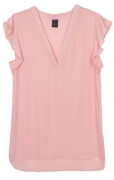 Specifications: Decoration:None Clothing Length:Regular Pattern Type:Solid Sleeve Style:Butterfly Sleeve Fabric Type:Chiffon Material:Polyester Collar:V-Neck Color Style:Natural Color Sleeve Length:Sh