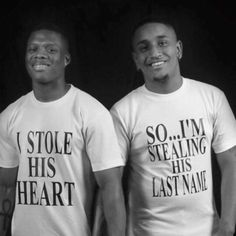 Black Bromance - I stole his heart. My Kind Of Love, Sex And Love, Man In Love, Lgbt Couples, Cute Gay Couples, Black Couples Goals, Couple Goals, Family Goals, Lgbt Love