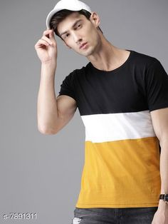 Checkout this latest Tshirts Product Name: *Attractive Men's T-Shirt* Fabric: Cotton Sleeve Length: Short Sleeves Pattern: Colorblocked Multipack: 1 Sizes: S, M (Chest Size: 38 in, Length Size: 27.5 in)  L (Chest Size: 40 in, Length Size: 28 in)  XL (Chest Size: 42 in, Length Size: 28.5 in)  Country of Origin: India Easy Returns Available In Case Of Any Issue   Catalog Rating: ★4 (507)  Catalog Name: Attractive Men's T-Shirts CatalogID_1296571 C70-SC1205 Code: 962-7891311-294