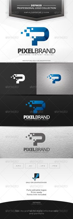 Pixel Brand Logo — Vector EPS #technology #solutions • Available here → https://graphicriver.net/item/pixel-brand-logo/6904888?ref=pxcr