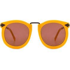 Karen Walker Super Lunar ($295) ❤ liked on Polyvore featuring accessories, eyewear, sunglasses, karen walker sunnies, karen walker eyewear, karen walker, uv protection glasses and acetate sunglasses