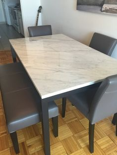 Crate And Barrel Marble Dining Table