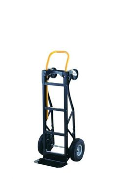 Harper Trucks 700 lb Capacity Glass Filled Nylon Convertible Hand Truck and Dolly with Pneumatic Wheels Moving Dolly, Wheel Dollies, Trolley Dolly, Hand Cart, All Terrain Tyres, Dolls For Sale, Rubber Tires, Metal Fabrication, Black N Yellow