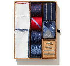 Most if my ties, pocket squares, tie bars and cuff links are from The Tie Bar. Great quality and even better prices. Tie Gift Box, Tie Crafts, Perfect Gift For Him, Men Style Tips, Gifts For Father, Thoughtful Gifts, Mens Fashion, Fashion Tips, Fashion Ideas