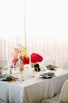 Polka dotted table cloth: http://www.stylemepretty.com/2015/05/05/patterned-wedding-details-that-wow/