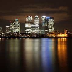 City lights of Canary Wharf taken from near the O2 arena the other night after watching #Dynamolive by m_hill_photography