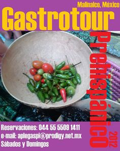 Gastrotour Prehispánico / Malinalco México / los grupos son mínimo de 10 personas o anexarse el último fin de semana a un grupo de asistentes de todos lados.
