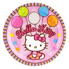 Hello Kitty Balloon Dreams Dessert Plates - Includes (8) 7 dessert plates. Hello Kitty is officially licensed by Sanrio Co. Ltd.