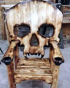 Wooden Pallet Furniture New Wooden Pallet Chair Furniture Ideas Diy Wood Projects, Wood Crafts, Woodworking Projects, Woodworking Plans, Project Projects, Woodworking Skills, Deco Originale, Into The Woods, Diy Holz