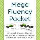 This mega-packet for fluency is 57 pages long!    The speech tools targeted are: slow rate, full breath, pausing, stretchy speech, light contact, eas...