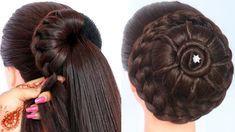 8 easy juda hairstyles for gown, lehenga, & saree Running Late Hairstyles, New Trendy Hairstyles, Hairstyles For Gowns, Cute Girls Hairstyles, Trending Hairstyles, Party Hairstyles, Braided Hairstyles, Short Hair Styles Easy, Medium Hair Styles