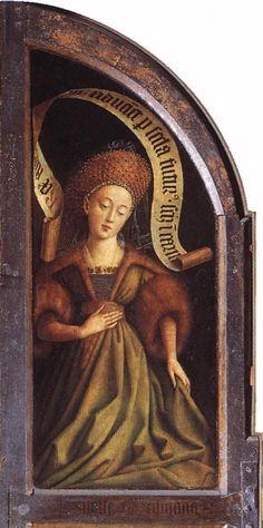 JAN VAN EYCK ALTAR DE GANTE LA SIBILA CUMEA 1432