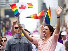 Prime Minister Justin Trudeau showed his true colours as he became the first Canadian Prime Minister to march in the annual Pride parade in Toronto. Trudeau marched with thousands of revellers along the parade route in the heart of downtown Toronto.