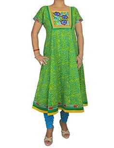 Women's Salwar Kameez Turquoise Green - Handmade 2-Piece Cotton Set with Tunic and Pants ShalinIndia http://www.amazon.co.uk/dp/B00OA4FI5O/ref=cm_sw_r_pi_dp_kW1Vvb1Y1608E