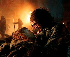 You'd think I'd be use to all the deaths on Game Of Thrones ...But Ygritte and Jon's scene made me cry mr eyes out !!!!!!!!! :( #YouKnowNothingJonSnow
