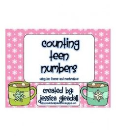 Counting Teen Numbers Winter 10 Frames