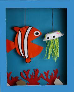 Make an Ocean Diorama for World Oceans Day - great green kids craft!