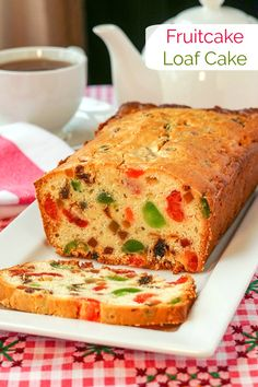 A richly flavoured cream cheese batter is the star of this quick, easy fruitcake in a smaller loaf size for those who don't want or need a large fruitcake. Food Cakes, Fruit Cakes, Rock Recipes, Cake Recipes, Easy Fruit Cake Recipe, Christmas Fruit Cake Recipe, Easy Christmas Cake, Quick Fruit Cake, Holiday Baking