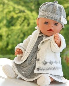 Knitting Patterns For Dolls Clothes Simple Timeless Elegance Grey