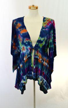 Tie Dye Top Bohemian Bell Sleeve Blouse Hippie by 2dye4designs, $48.00