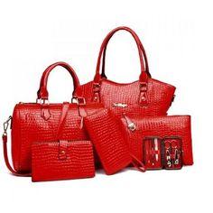 Stylish Crocodile Tote Bag Sets