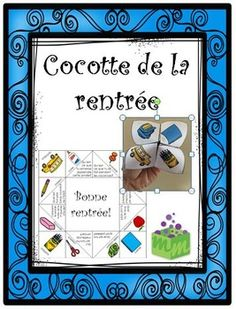 The cootie catcher is an ideal playful activity for the beginning of the school year. This fun game allows working on phonological awareness, oral communication, vocabulary and it helps the students to get to know each other. Beginning Of The School Year, First Day Of School, School Fun, Back To School, French Teaching Resources, Teaching French, Communication Orale, French Worksheets, Core French