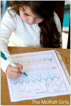 FREE!!! A-Z Handwriting Practice Pages! Just print, place in sleeve protectors and use with a dry erase marker!