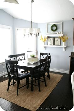 The blue/gray in the kitchen is from Sherwin Williams. It's called Upward. - Playroom or guest room?