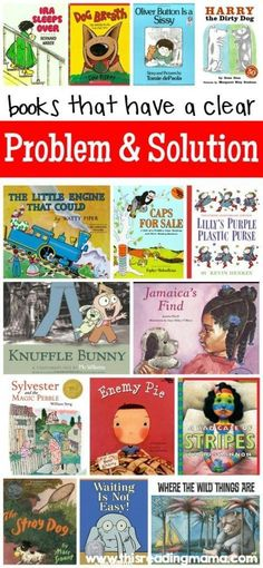 Books with a Clear Problem and Solution Text Structure ~ perfect for teaching comprehension and story writing with fiction | This Reading Mama