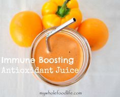 Immune Boosting Antioxidant Juice. Drink this to build your immunity to prevent illness. If you are sick, it may help you feel better. #juice #juicing #immuneboosting #cleaneating #drinkyourvegetables #detox