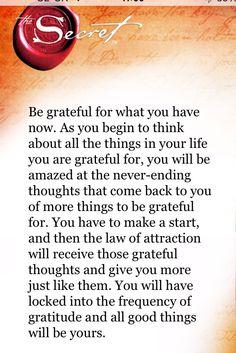 Be Grateful ❤️