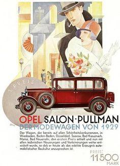 """1920s Ad. Opel (""""Die Dame"""" November 1928)"""